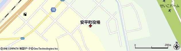 北海道勇払郡安平町周辺の地図
