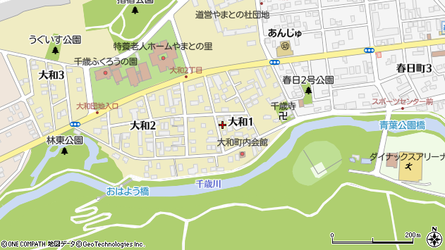 〒066-0066 北海道千歳市大和の地図