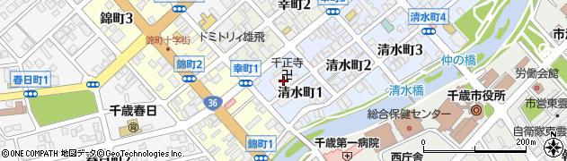 千正寺周辺の地図