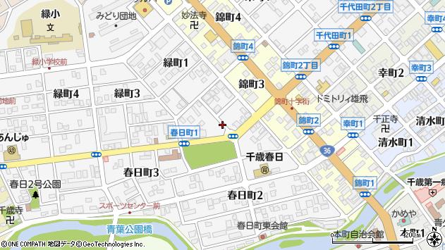 〒066-0065 北海道千歳市春日町の地図