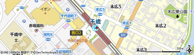 北海道千歳市周辺の地図