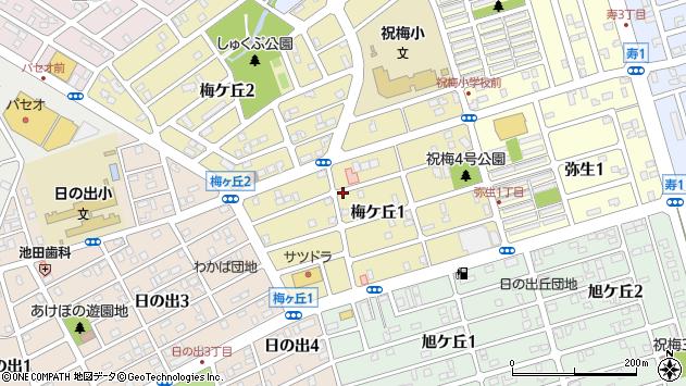 〒066-0025 北海道千歳市梅ケ丘の地図