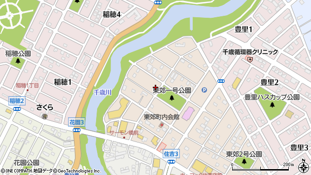 〒066-0021 北海道千歳市東郊の地図