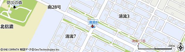 清流4周辺の地図