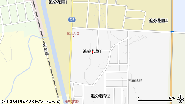〒059-1951 北海道勇払郡安平町追分若草の地図