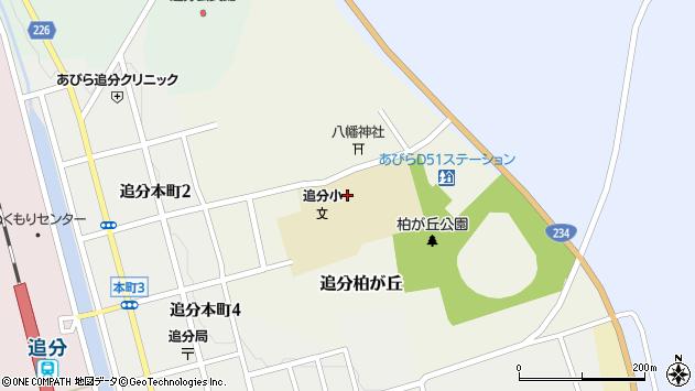 〒059-1921 北海道勇払郡安平町追分柏が丘の地図
