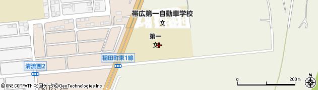 北海道帯広市稲田町東1線周辺の地図