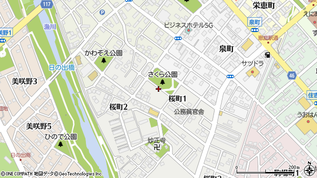 〒061-1416 北海道恵庭市桜町の地図