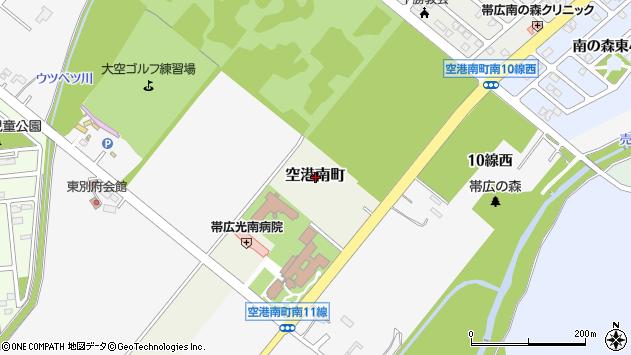〒080-0836 北海道帯広市空港南町の地図