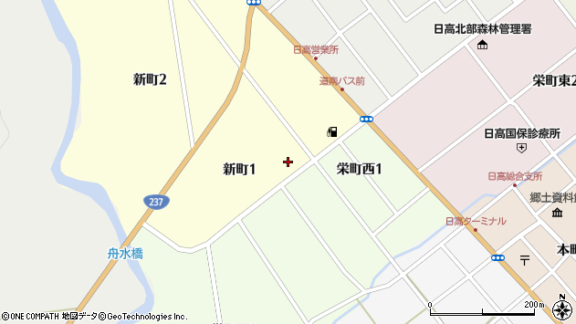 〒055-2305 北海道沙流郡日高町新町の地図
