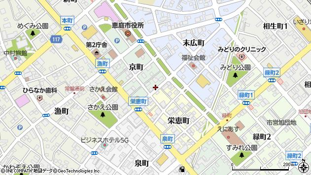 〒061-1444 北海道恵庭市京町の地図