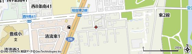 北海道帯広市稲田町東2線周辺の地図