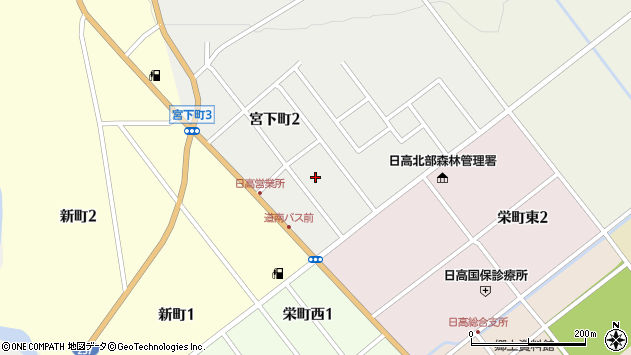 〒055-2306 北海道沙流郡日高町宮下町の地図