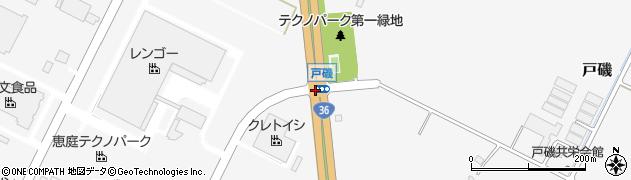 戸磯周辺の地図
