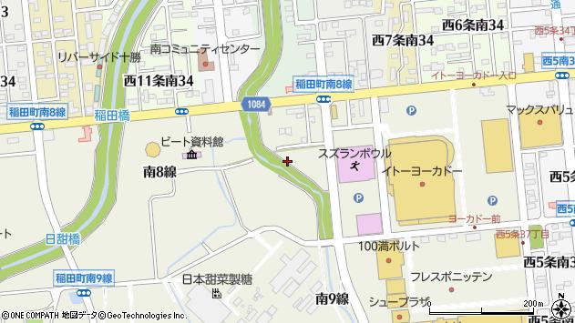 〒080-0831 北海道帯広市稲田町南の地図