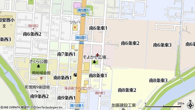 〒044-0021 北海道虻田郡倶知安町南七条東の地図