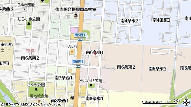 〒044-0016 北海道虻田郡倶知安町南六条東の地図