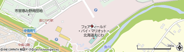 恵庭市保健センター周辺の地図