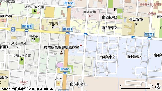 〒044-0014 北海道虻田郡倶知安町南四条東の地図
