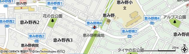 恵み野西4周辺の地図