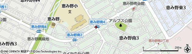 恵み野南4周辺の地図