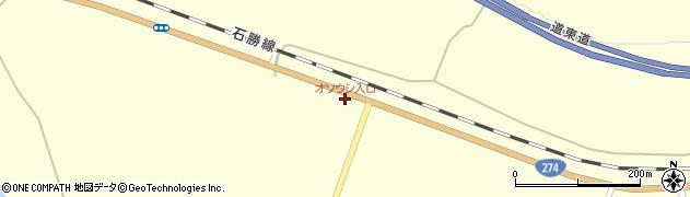 オソウシ入口周辺の地図