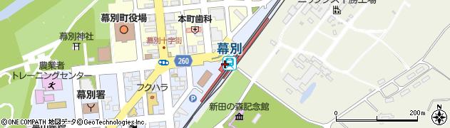 北海道中川郡幕別町周辺の地図