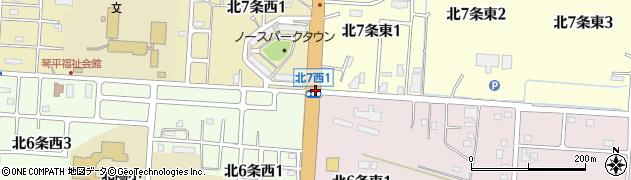北6東1周辺の地図