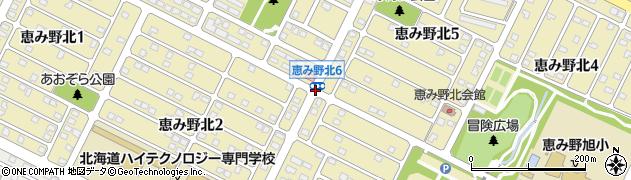 恵み野北5周辺の地図