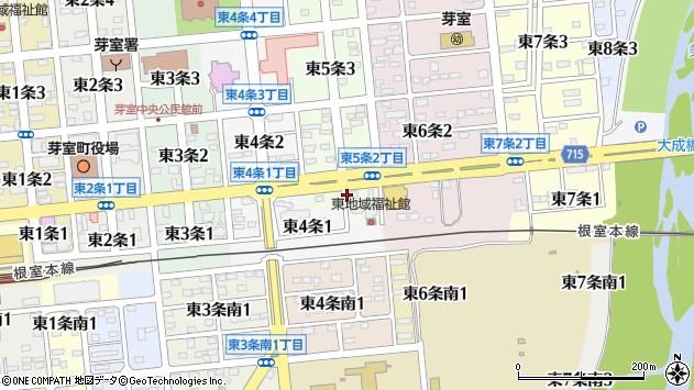 〒082-0015 北海道河西郡芽室町東五条の地図
