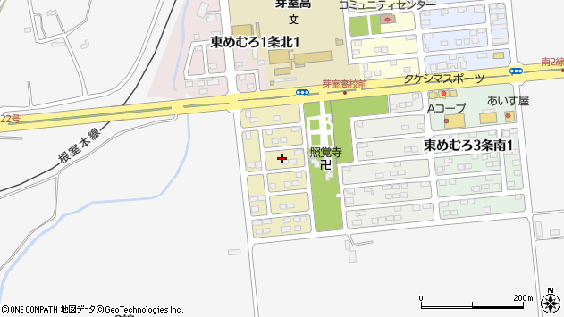 〒082-0811 北海道河西郡芽室町東めむろ一条南の地図