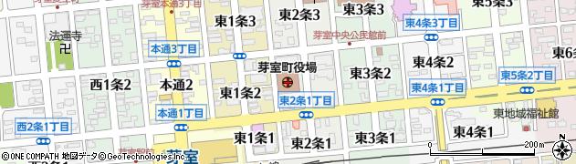 北海道河西郡芽室町周辺の地図