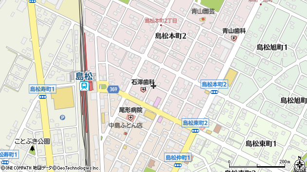 〒061-1353 北海道恵庭市島松本町の地図