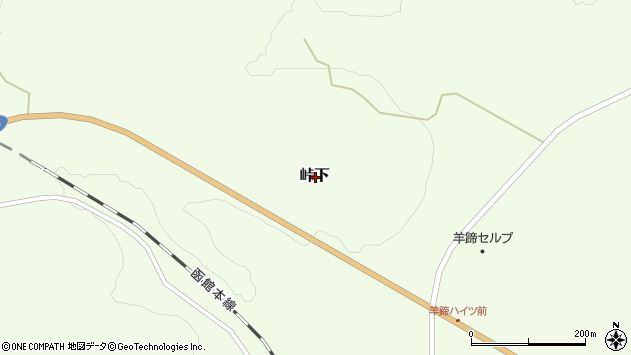〒044-0085 北海道虻田郡倶知安町峠下の地図