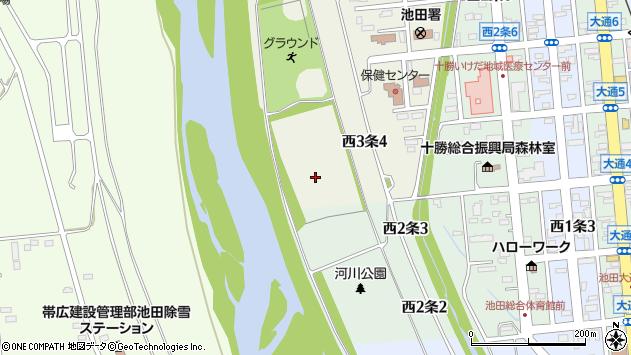 〒083-0023 北海道中川郡池田町西三条の地図