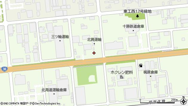 〒082-0005 北海道河西郡芽室町東芽室基線日甜の地図