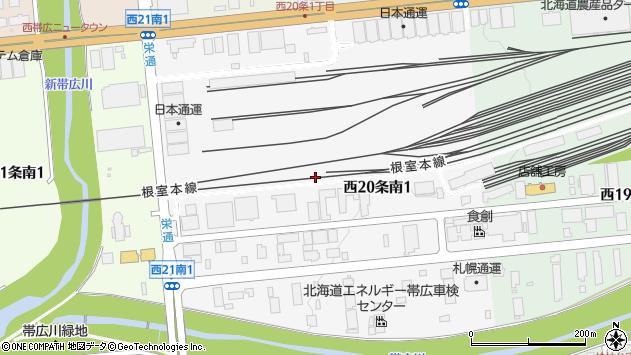 〒080-2470 北海道帯広市西二十条南の地図