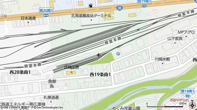 〒080-2469 北海道帯広市西十九条南1丁目の地図