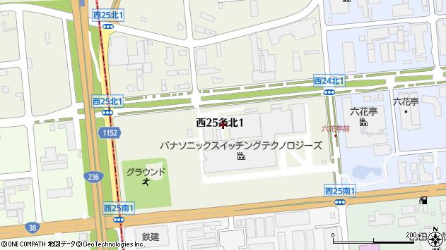 〒080-2465 北海道帯広市西二十五条北の地図