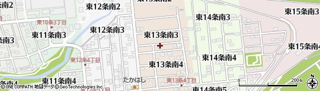 北海道帯広市東13条南周辺の地図