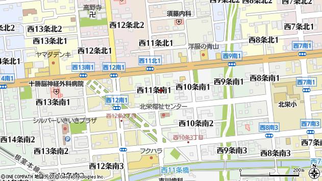 〒080-0021 北海道帯広市西十一条南の地図