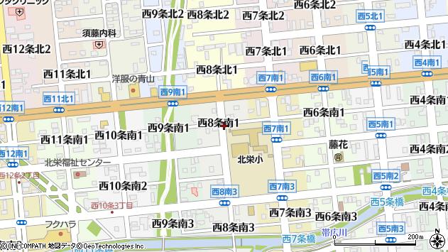 〒080-0018 北海道帯広市西八条南の地図