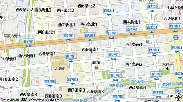 〒080-0016 北海道帯広市西六条南の地図