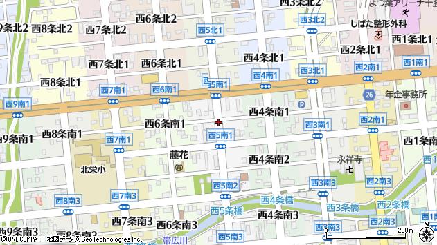 〒080-0015 北海道帯広市西五条南の地図