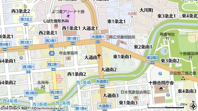 〒080-0010 北海道帯広市大通南の地図