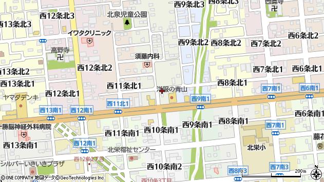 〒080-0040 北海道帯広市西十条北の地図