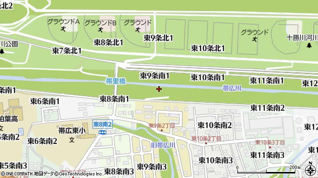 〒080-0809 北海道帯広市東九条南の地図
