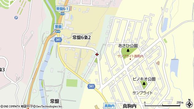 〒005-0865 北海道札幌市南区常盤(1〜131番地)の地図