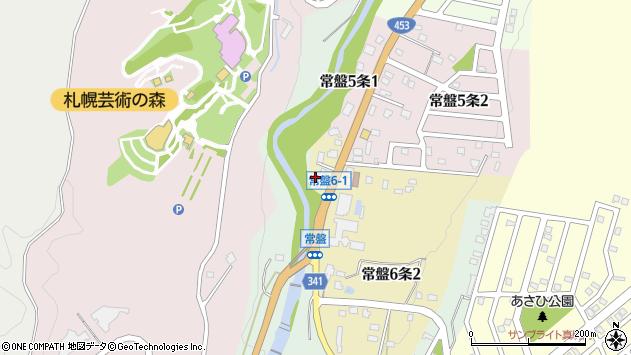 〒005-0856 北海道札幌市南区常盤六条の地図