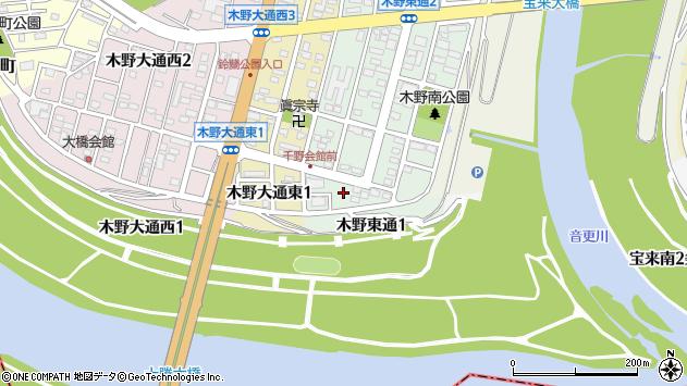 〒080-0112 北海道河東郡音更町木野東通の地図